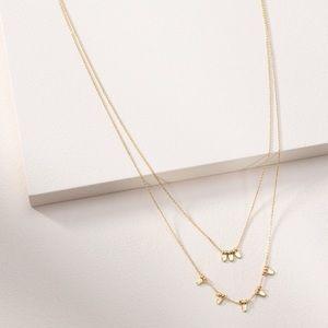 Stella & Dot Delicate Petal Necklace Gold